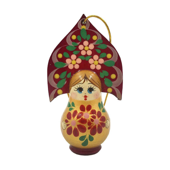 "Wooden Ornament ""Kokoshnik Gold"""
