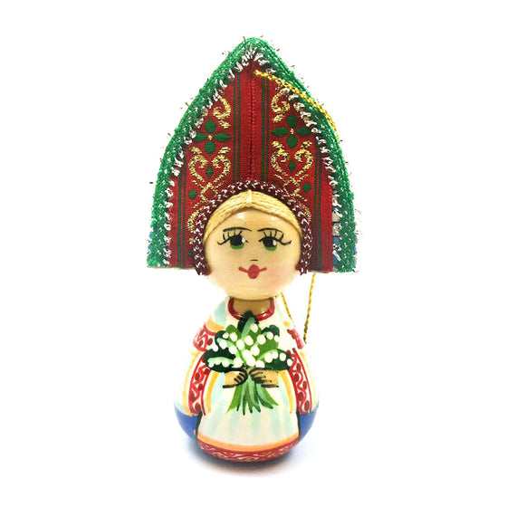 "Wooden Ornament ""Kokoshnik Lillies of the Valley"""