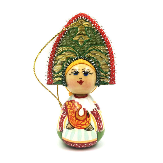"Wooden Ornament ""Kokoshnik Visitor"""