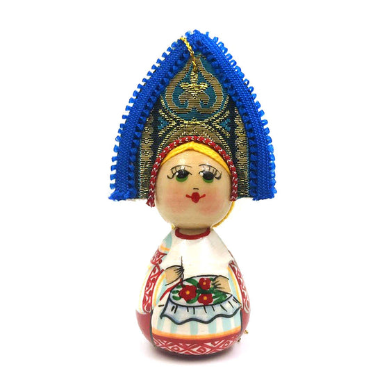 "Wooden Ornament ""Kokoshnik Embroidery"""