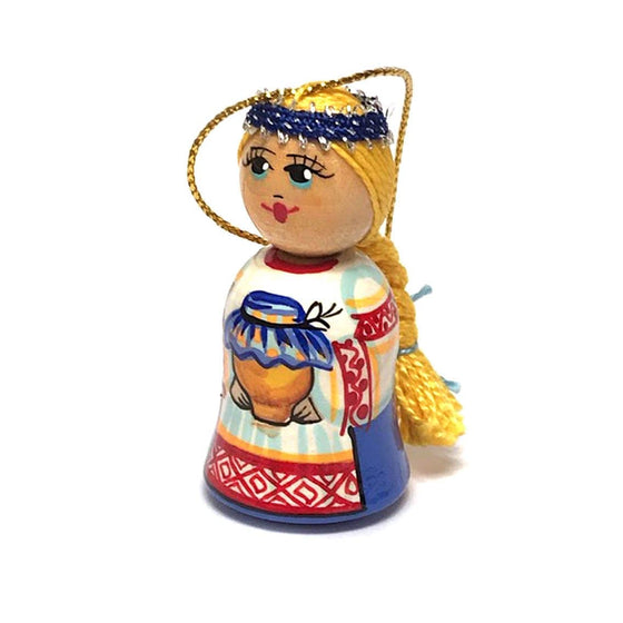 Wooden Ornament: Girl with Honey