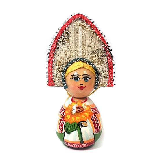 "Wooden Ornament ""Kokoshnik Sunflower"""