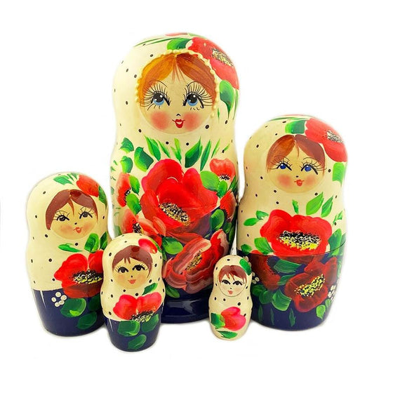 Matryoshka: Poppies, 5-piece