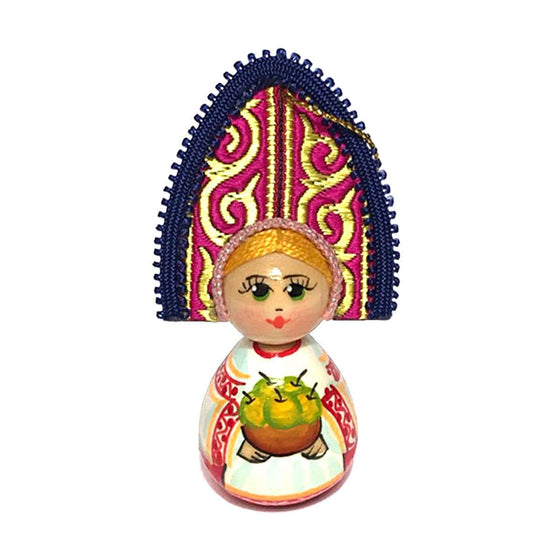 "Wooden Ornament ""Kokoshnik Apples"""