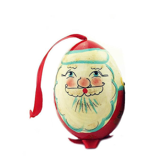 "Wooden Egg Ornament ""Santa"""