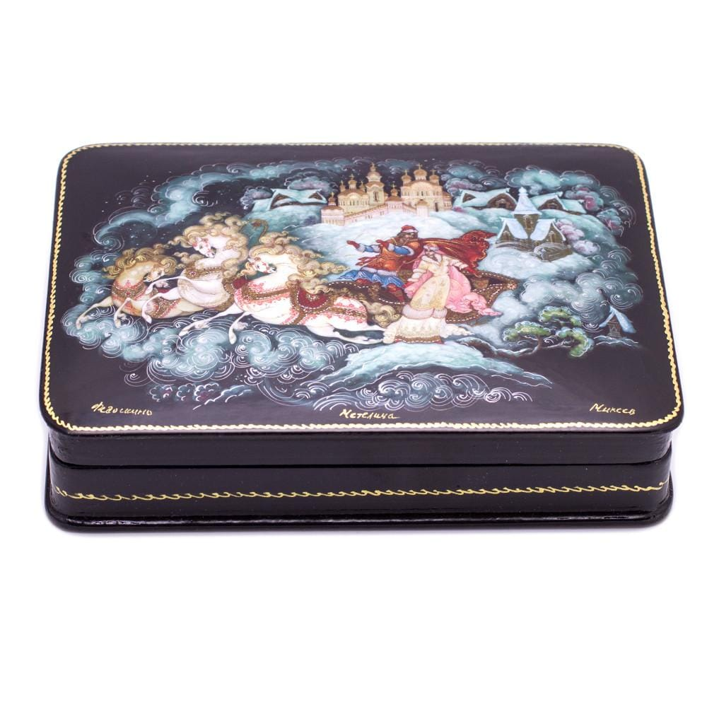 "Lacquer Box ""Winter Troika"""
