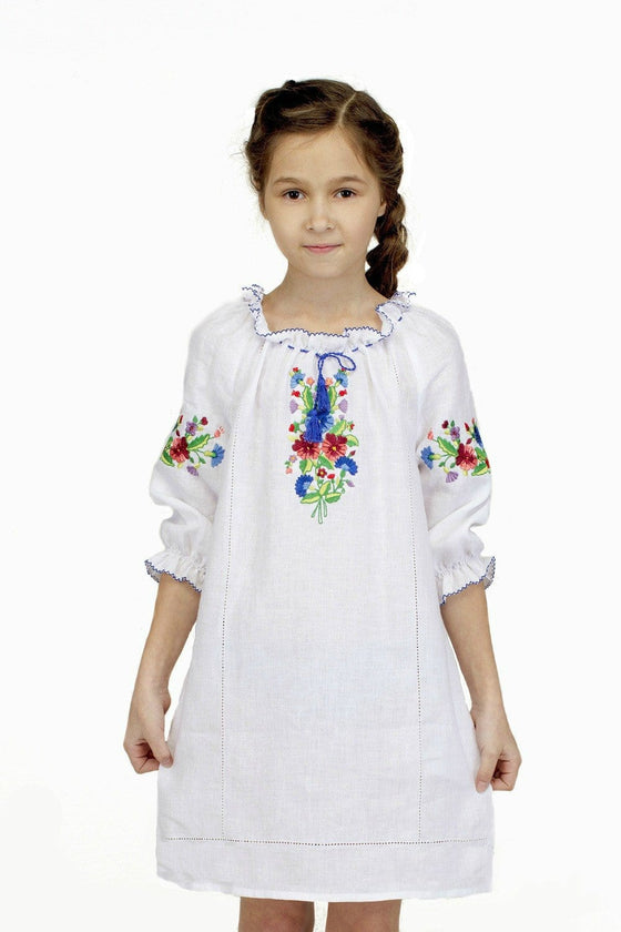 Russian Costume: Girls Embroidered Dress