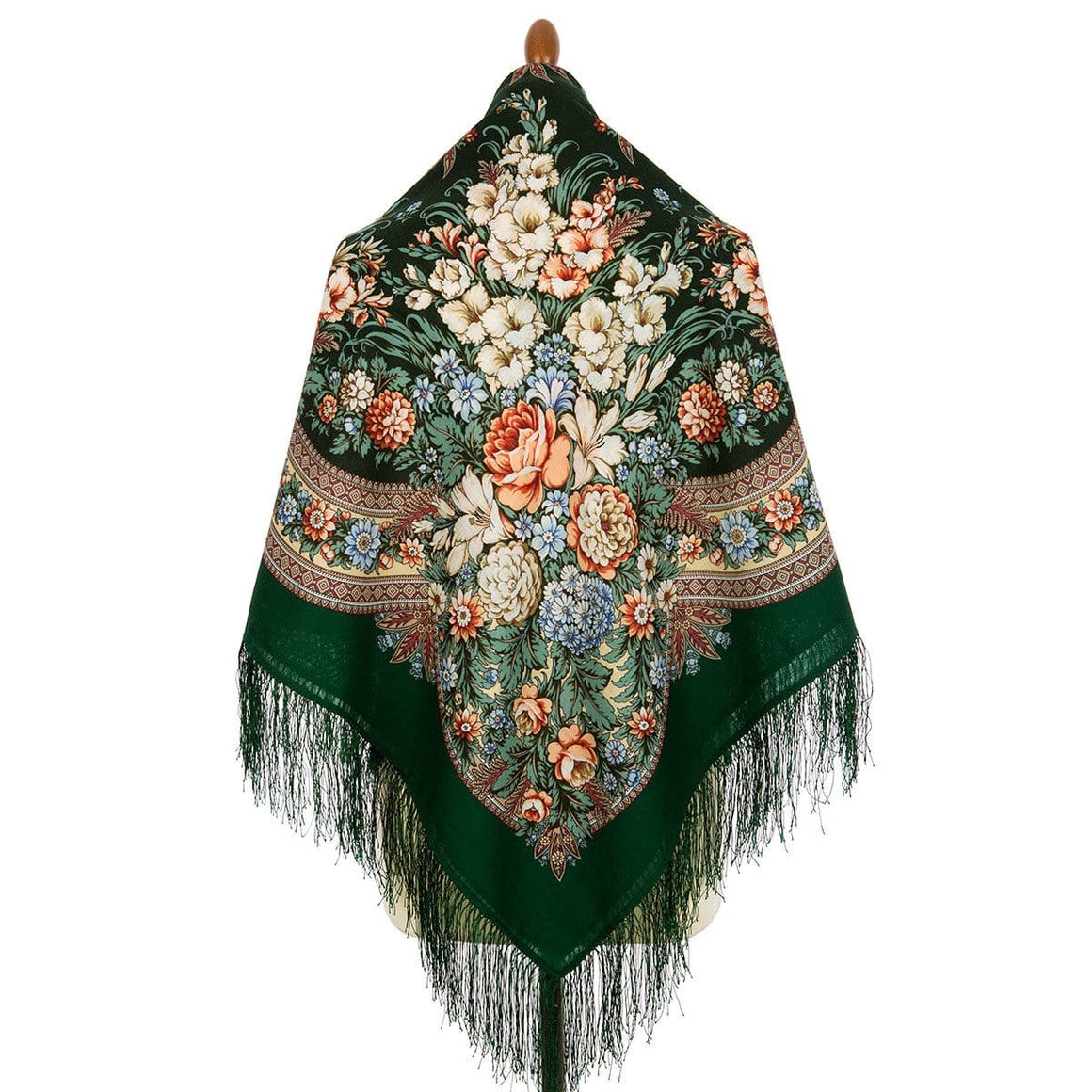 "Pavlovo Posad Scarf ""Emerald Dream"""
