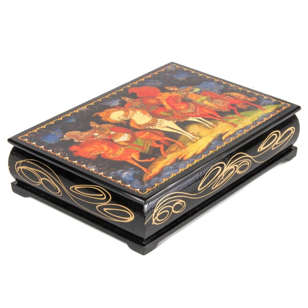 "Lacquer Box ""Three Bogatyrs"""