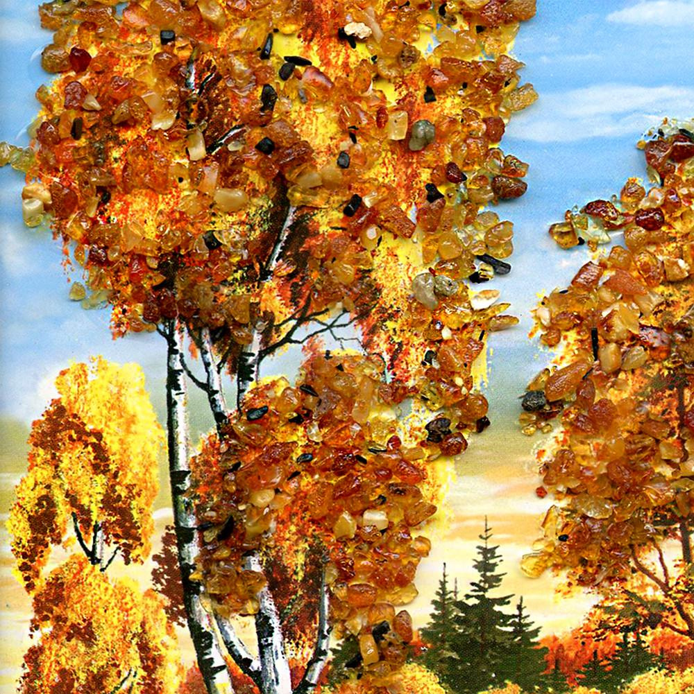 Amber Picture: Autumn Forest