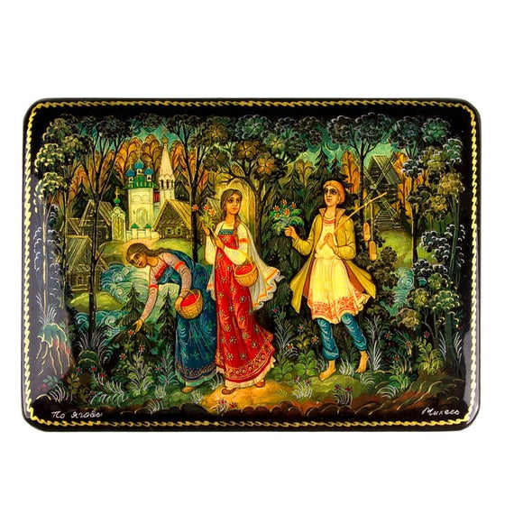 "Lacquer Box ""Berry Picking"""