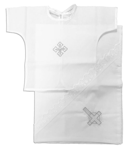 Simple Baptismal Shirt and Towel Set (0-6 months)