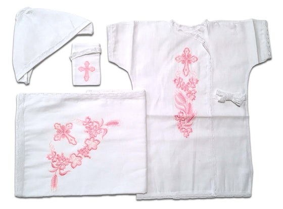 Baptism Gown: Pink (6-12 months)
