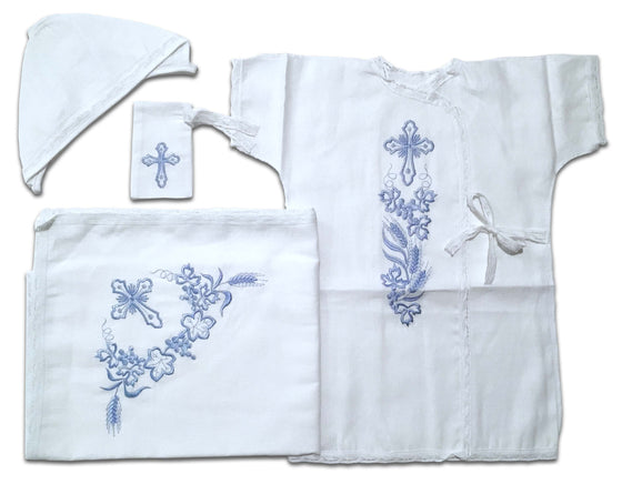 Baptism Gown: Blue (6-12 months)