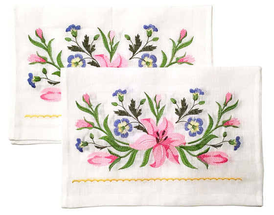 Wedding Icon Napkins: Lilies