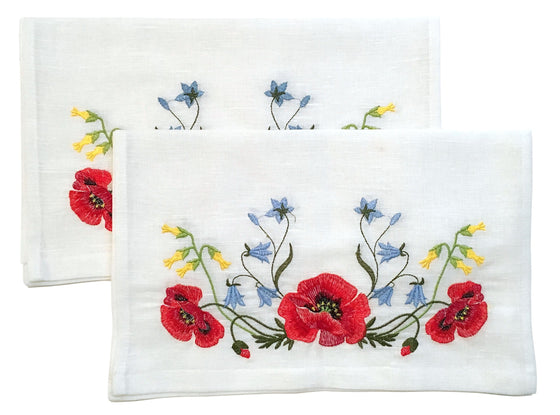 Wedding Icon Napkins: Poppies