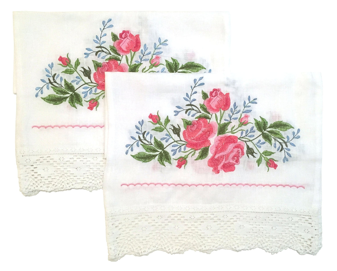 Wedding Icon Napkins: Roses & Lace