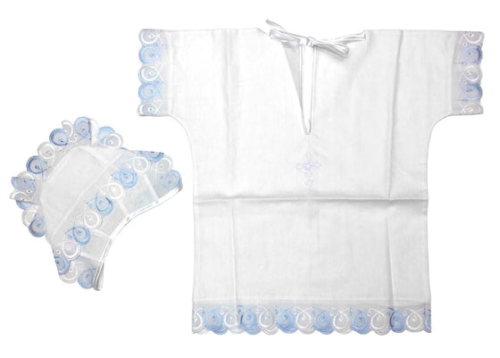 Baptism Gown: Blue (0-6 months)