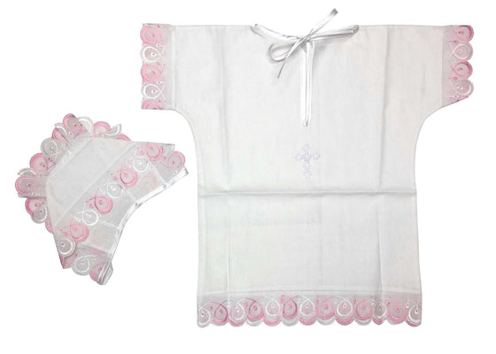 Baptism Gown: Pink (0-6 months)