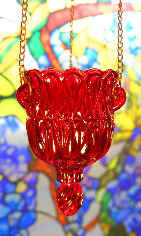 Hanging Ruby Vigil Lamp