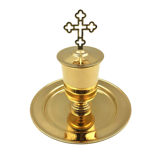 Holy Oil Vessel: Gold-plated