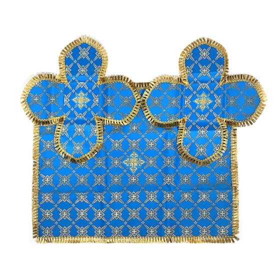 Chalice Cover & Aer Set: Blue & Gold (0.5 – 0.75 liter)
