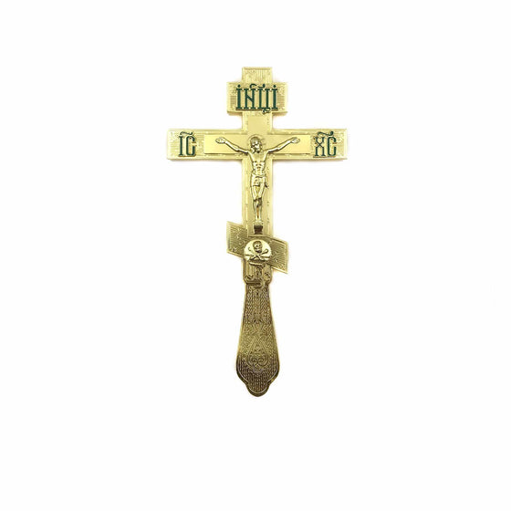 Blessing Cross: Enamel Lettering (Green)