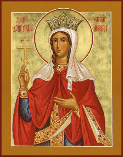 St. Catherine of Alexandria the Great Martyr Icon (Katherine)