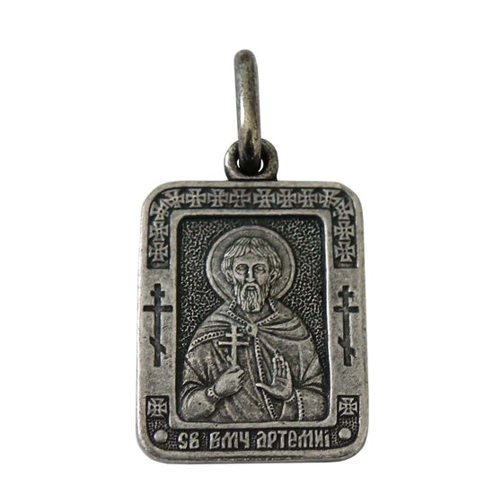 St. Artemius the Great-martyr Icon Pendant