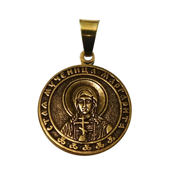 St. Marguerita the Martyr Icon Pendant