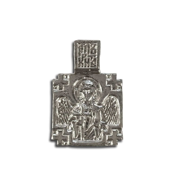 Guardian Angel & St. Nicholas Icon Pendant
