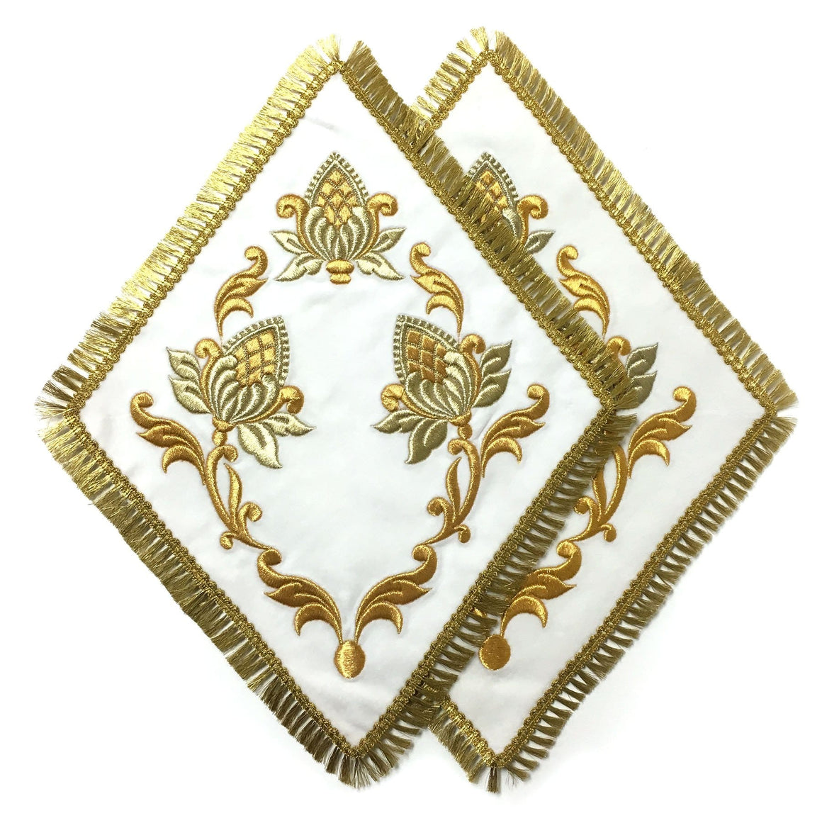 Blessing Cross Diamond Set: White Velvet & Gold