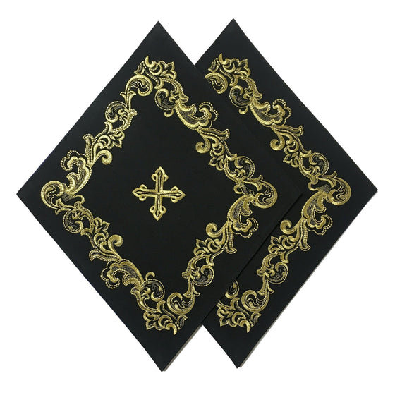 Blessing Cross Diamond Set: Black & Gold