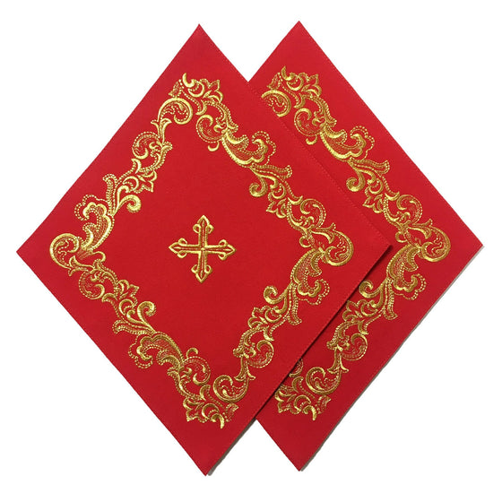 Blessing Cross Diamond Set: Red & Gold