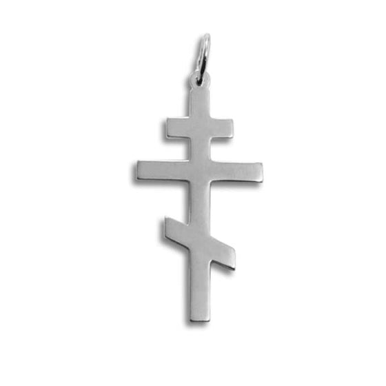Silver St. Andrew Cross Pendant: Large