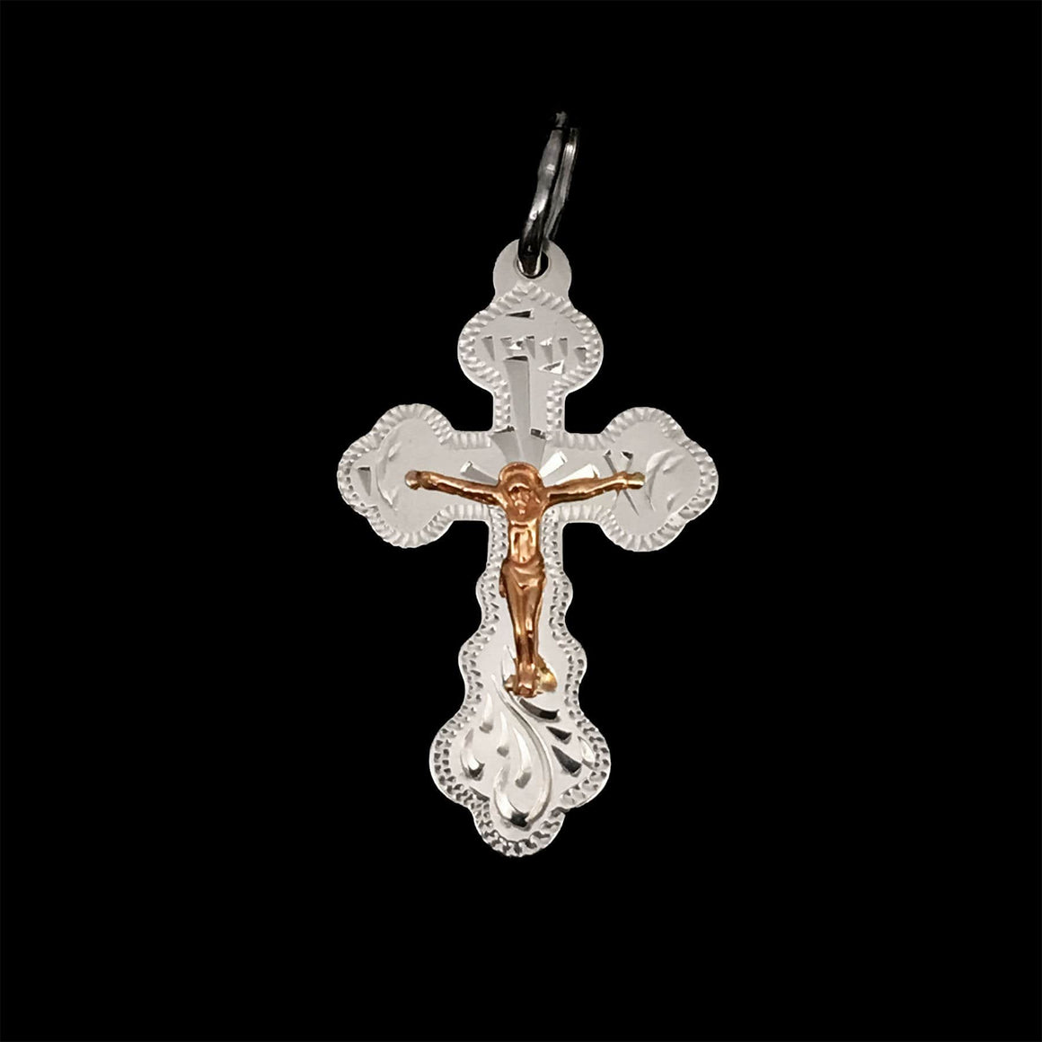 Silver Cross with Gold Plating