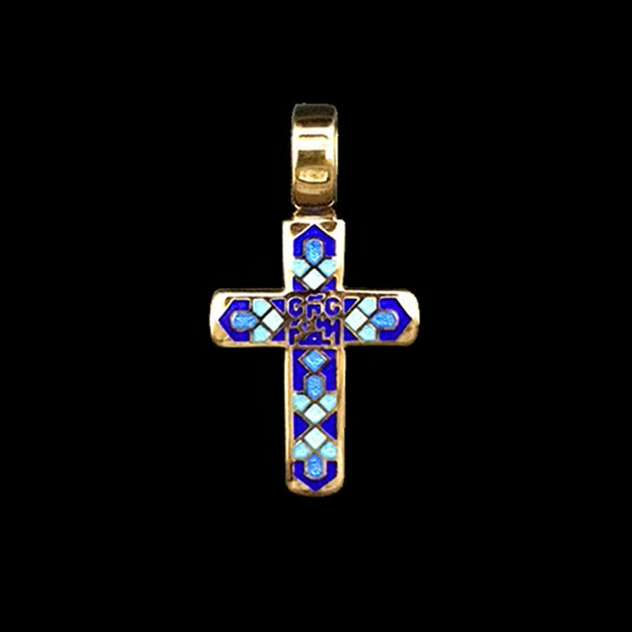 Enamel Cross Pendant