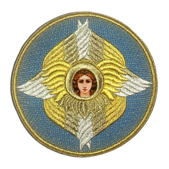 Embroidered Chalice Cover (Light Blue)
