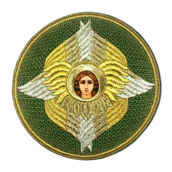 Embroidered Chalice Cover (Green)