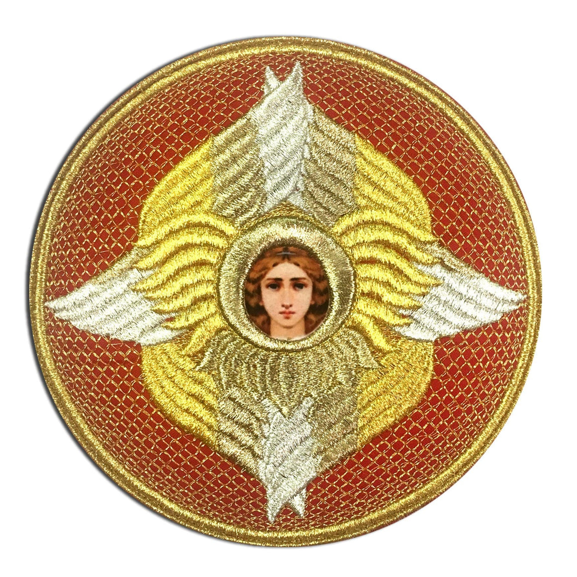 Embroidered Chalice Cover (Red)