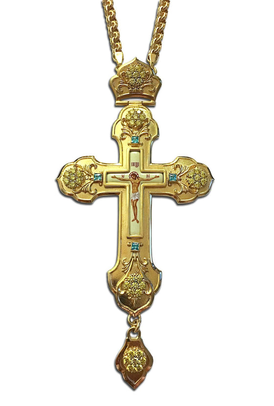 """Flower of the Field: Marigold"" Jeweled Pectoral Cross"
