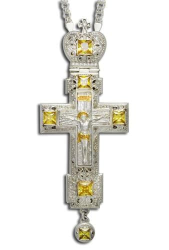 """Let your Light so Shine Before Men"" Jeweled Pectoral Cross"