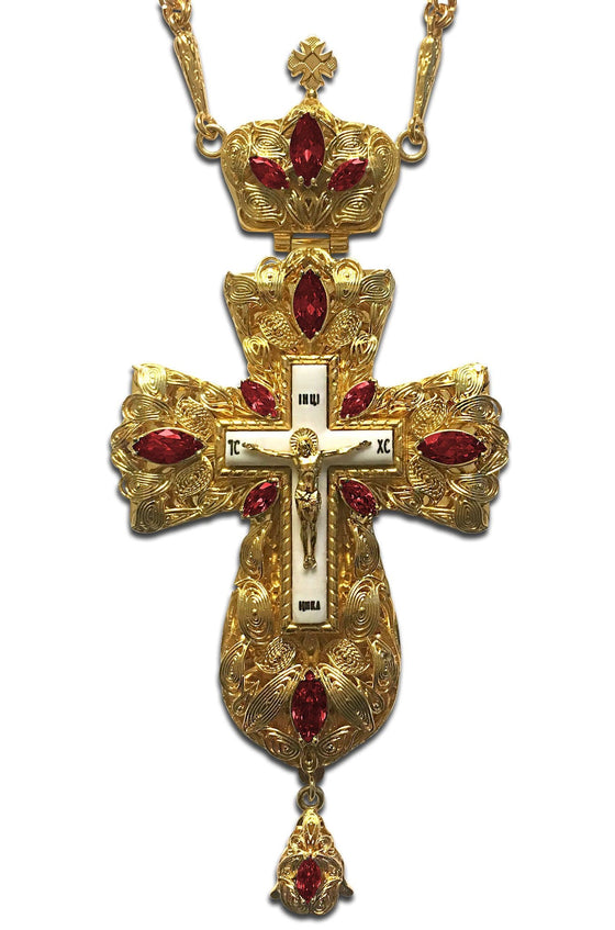 """Everlasting Life: Bordeaux"" Jeweled Pectoral Cross"