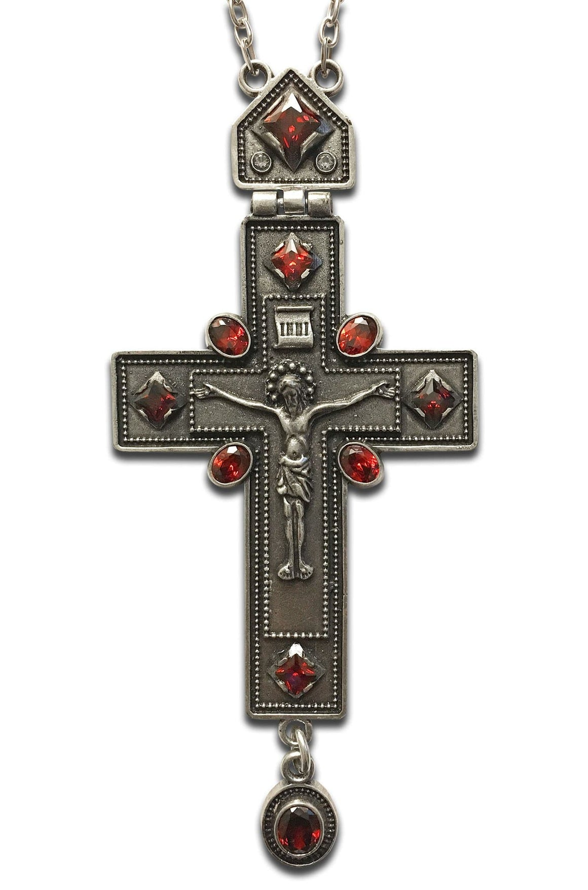 """Optina: Red"" Jeweled Pectoral Cross"