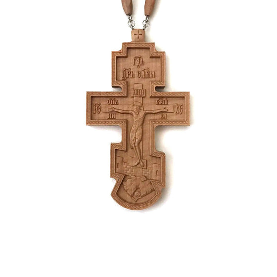 Carved Pectoral Cross: No. 4 (Laser-cut)