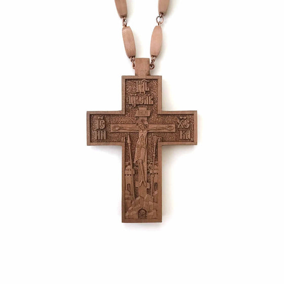 Carved Pectoral Cross: No. 1 (Hand-carved)