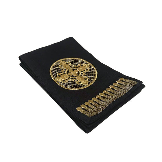 Gospel Marker: Black with Gold Embroidery