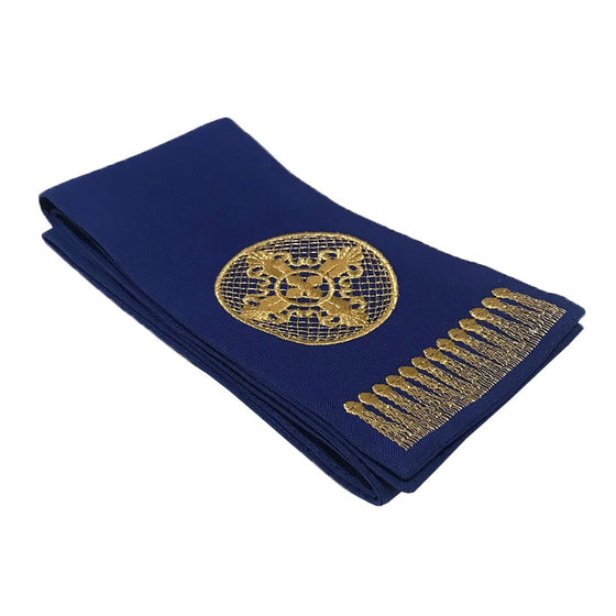 Gospel Marker: Blue with Gold Embroidery