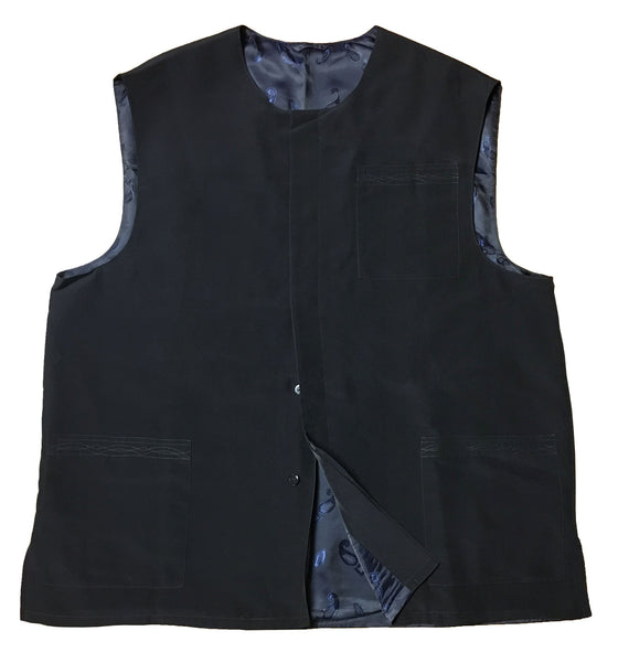 Size 62: Black Koshibo Vest (with lining)