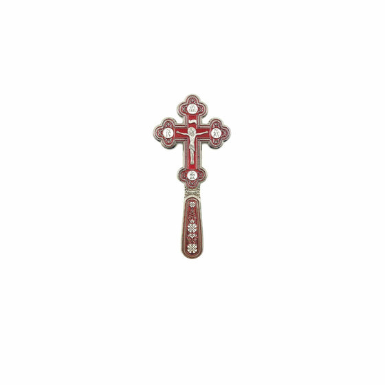 Blessing Cross for Travel: Red Enamel (Small)